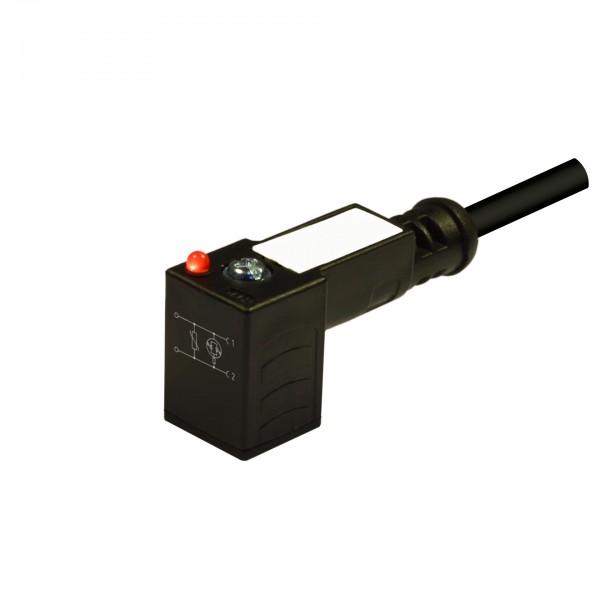 Steckverbinder 18 mm – DIN/A, 2Pole + Erde, 24V AC / DC